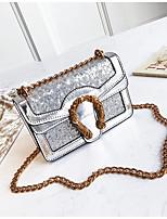 cheap -Women's Bags PU(Polyurethane) Shoulder Bag Zipper Black / Silver / Blushing Pink