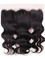Недорогие -Перуанские волосы 4X13 Закрытие Волнистый Швейцарское кружево Натуральные волосы Жен. Лучшее качество / 100% девственница / Кружевное закрытие Рождество / Новогодние подарки / Свадьба