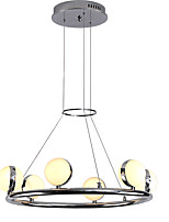 cheap -ZHISHU 6-Light Circular Chandelier Ambient Light - New Design, Creative, 110-120V / 220-240V, Warm White / White, Bulb Included