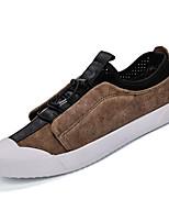 cheap -Men's PU(Polyurethane) Summer Comfort Sneakers Black / Brown
