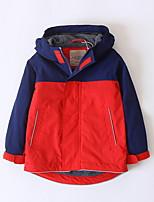 cheap -Kids Girls' Street chic Geometric / Color Block Long Sleeve Cotton Trench Coat