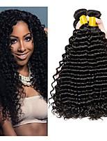 cheap -Brazilian Hair Curly Natural Color Hair Weaves / Extension 3 Bundles 8-28 inch Human Hair Weaves Machine Made New Arrival / 100% Virgin / curling Natural Black Human Hair Extensions Women's