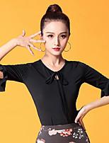 cheap -Ballroom Dance Tops Women's Performance Ice Silk Pattern / Print / Ruching Half Sleeve Top