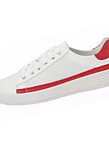 Недорогие -Муж. Полиуретан Осень Удобная обувь Кеды Контрастных цветов Красный / Wit En Groen