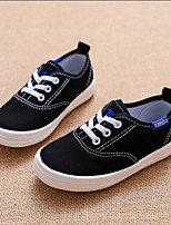 cheap -Boys' / Girls' Shoes Canvas Spring & Summer Comfort Sneakers Lace-up for Kids White / Black