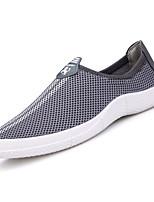 Недорогие -Муж. Сетка Лето Удобная обувь Мокасины и Свитер Черный / Серый / Синий