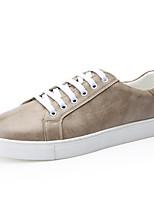 Недорогие -Муж. Комфортная обувь Микроволокно Весна Кеды Белый / Черный / Хаки
