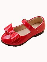 Недорогие -Девочки Обувь Полиуретан Наступила зима Детская праздничная обувь На плокой подошве Для прогулок Пряжки для Дети Черный / Красный / Розовый