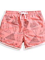 economico -Per donna Costume nuoto a pantaloncino / Pantaloncini da mare Anti-pioggia, Ultra leggero (UL), Asciugatura rapida POLY / Elastene Costumi da bagno Abbigliamento mare Boxer da surf / Pantaloni Dipinto