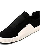 cheap -Men's Canvas / PU(Polyurethane) Fall Comfort Sneakers White / Black
