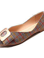 cheap -Women's Shoes Cotton Summer Comfort Flats Flat Heel Pointed Toe Black / Beige / Red