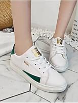 cheap -Women's Shoes PU(Polyurethane) Spring / Summer Comfort Sneakers Flat Heel Round Toe Green / Blue / Pink