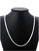 cheap -Men's Thick Chain / Single Strand Chain Necklace - Silver Plated Simple, Basic, Fashion Silver 50 cm Necklace 1pc For Daily, Street