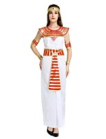 cheap -Egyptian Costume Costume Women's Halloween / Carnival / Children's Day Festival / Holiday Halloween Costumes White Solid Colored / Striped / Halloween Halloween