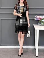 cheap -Women's Blouse - Striped Dress