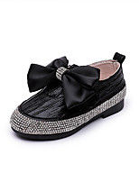 cheap -Girls' Shoes PU(Polyurethane) Spring & Summer Flower Girl Shoes Flats Walking Shoes Bowknot for Kids Black / Silver / Pink