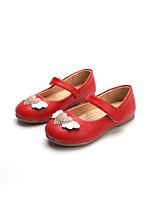 Недорогие -Девочки Обувь Полиуретан Весна лето Удобная обувь / Детская праздничная обувь На плокой подошве Для прогулок На липучках для Дети Черный / Красный / Розовый