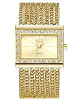 abordables -ASJ Mujer Reloj de Vestir / Reloj Pulsera Japonés Reloj Casual Cobre Banda Lujo / Vintage Plata / Dorado