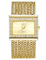 baratos -ASJ Mulheres Relógio Elegante / Bracele Relógio Japanês Relógio Casual Cobre Banda Luxo / Vintage Prata / Dourada
