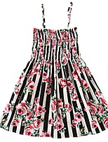 cheap -Kids Girls' Solid Colored / Striped / Floral Sleeveless Dress