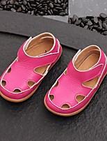 Недорогие -Девочки Обувь Кожа Лето Удобная обувь Сандалии для Белый / Синий / Розовый