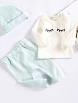 Недорогие -малыш Девочки С принтом С короткими рукавами Набор одежды
