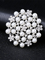 cheap -Women's AAA Cubic Zirconia Hollow Out Brooches - Elegant Brooch Silver For Wedding / Festival