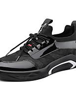 Недорогие -Муж. Полиуретан Весна Удобная обувь Кеды Черный / Черный / Красный