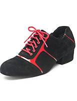cheap -Men's Latin Shoes Suede Sneaker Thick Heel Dance Shoes Red / Blue