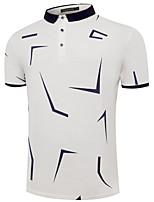 abordables -Polo Homme, Géométrique Imprimé Basique