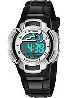 Недорогие -SYNOKE Муж. / Жен. электронные часы Календарь / Секундомер / Защита от влаги PU Группа Мода Черный / Синий / Розовый / Фосфоресцирующий