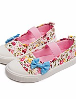 cheap -Girls' Shoes Canvas / PU(Polyurethane) Spring & Summer Comfort Loafers & Slip-Ons Walking Shoes Bowknot for Teenager Purple / Blue / Pink