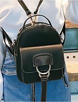 Недорогие -Жен. Мешки PU рюкзак Молнии Коричневый / Зеленый / Черный
