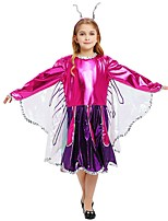 cheap -Princess Costume Girls' Halloween Carnival Children's Day Festival / Holiday Halloween Costumes Outfits Purple Solid Colored Halloween Halloween