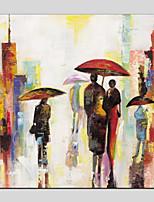 Недорогие -Hang-роспись маслом Ручная роспись - Пейзаж / Люди Modern холст