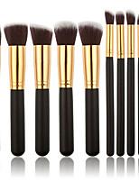 abordables -Paquete de 10 Pinceles de maquillaje Profesional Sistemas de cepillo Fibra de nilón Ecológica / Suave Madera / Bambú