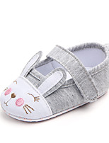 cheap -Girls' Shoes Cotton Summer First Walkers Flats Magic Tape for Baby White / Pink
