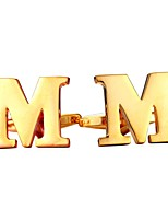 baratos -Letra Prata / Dourado Botões de Punho Cobre Formato de Letras Metálico / Formal Homens Jóias de fantasia Para Presente / Diário