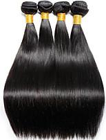 cheap -4 Bundles Hair Weaves Indian Hair Straight Human Hair Extensions Remy Human Hair 100% Remy Hair Weave Bundles 400 g Natural Color Hair Weaves / Hair Bulk Human Hair Extensions 8-28 inch Natural Color