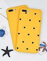Недорогие -Кейс для Назначение Apple iPhone X / iPhone 8 Plus С узором Кейс на заднюю панель С сердцем / Мультипликация Мягкий ТПУ для iPhone X / iPhone 8 Pluss / iPhone 8