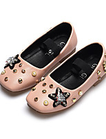 cheap -Girls' Shoes PU(Polyurethane) Spring & Summer Comfort / Flower Girl Shoes Flats Walking Shoes Beading for Kids Black / Beige / Pink