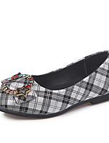 Недорогие -Девочки Обувь Полиуретан Наступила зима Детская праздничная обувь На плокой подошве Для прогулок Бант для Дети Розовый / Черно-белый