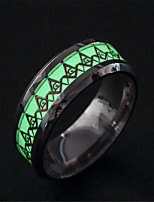 cheap -Men's Luminous Stone Vintage Style Band Ring - Stainless Steel Artistic, Unique Design, Classic 6 / 7 / 8 Silver For Party / Engagement