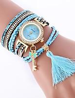 cheap -Women's Bracelet Watch Chinese Casual Watch / Imitation Diamond PU Band Casual / Fashion Black / White / Blue