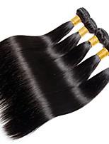 Недорогие -6 Связок Индийские волосы Прямой Необработанные / Натуральные волосы Подарки / Человека ткет Волосы / Сувениры для чаепития 8-28 дюймовый Ткет человеческих волос