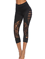 cheap -Women's Daily Sporty Legging - Solid Colored Mid Waist