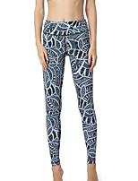 cheap -Women's Daily Basic Legging - Geometric High Waist