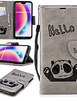 cheap -Case For Huawei P20 / P20 lite Wallet / Card Holder / with Stand Full Body Cases Panda Hard PU Leather for Huawei P20 / Huawei P20 Pro / Huawei P20 lite