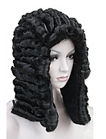 cheap -Synthetic Wig Wavy Middle Part Synthetic Hair Synthetic Black Wig Men's Mid Length Capless