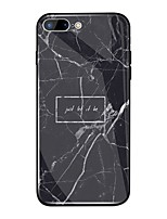 abordables -Coque Pour Apple iPhone X / iPhone 8 Plus Miroir / Motif Coque Mot / Phrase / Marbre Dur TPU / Verre Trempé pour iPhone X / iPhone 8 Plus / iPhone 8